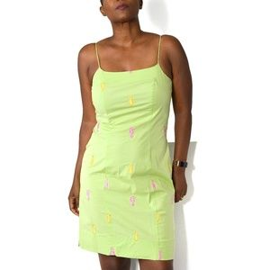 Lilly Pulitzer Dress Vintage Green Seahorse Size 4